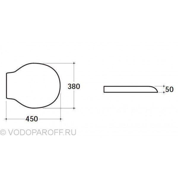 Сидение и крышка для унитазов Globo PAESTUM PA029 (полиэстер, цвет белый)