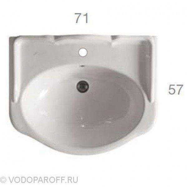 Раковина для ванной на 71 см Globo PAESTUM PA006