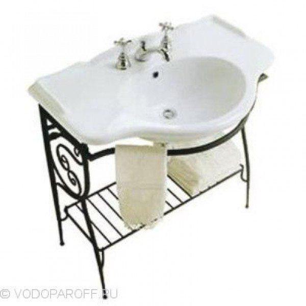 Раковина для ванной на 90 см Globo PAESTUM PA056 с напольной консолью PA072