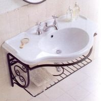 Раковина для ванной на 90 см Globo PAESTUM PA056 с подвесной консолью PA067