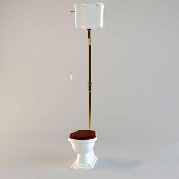 Унитаз напольный Kerasan RETRO 1011 с подвесным керамическим бачком на высокой трубе 1080