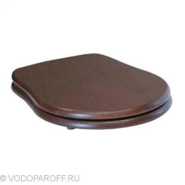 Сидение и крышка для унитазов Kerasan RETRO с микролифтом SoftClose (дерево, цвет орех)