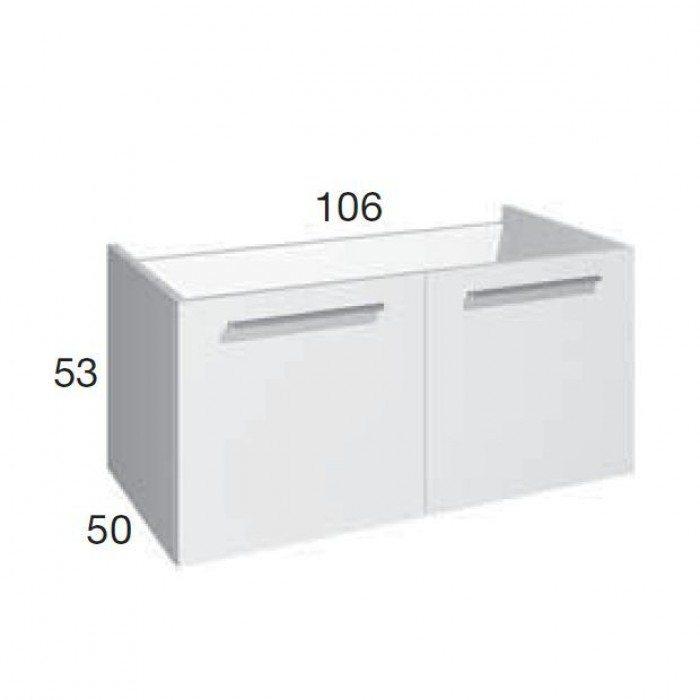 Тумба для ванной комнаты Berloni Bagno SQUARED SQ BS08 (отделка шпон)