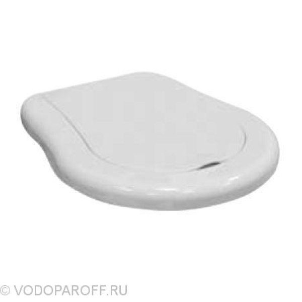 Сидение и крышка для унитазов Kerasan RETRO с микролифтом SoftClose (полиэстер термостойкий, цвет белый)