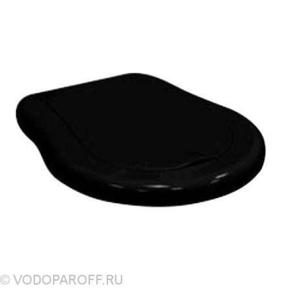Сидение и крышка для унитазов Kerasan RETRO с микролифтом SoftClose (полиэстер термостойкий, цвет черный)
