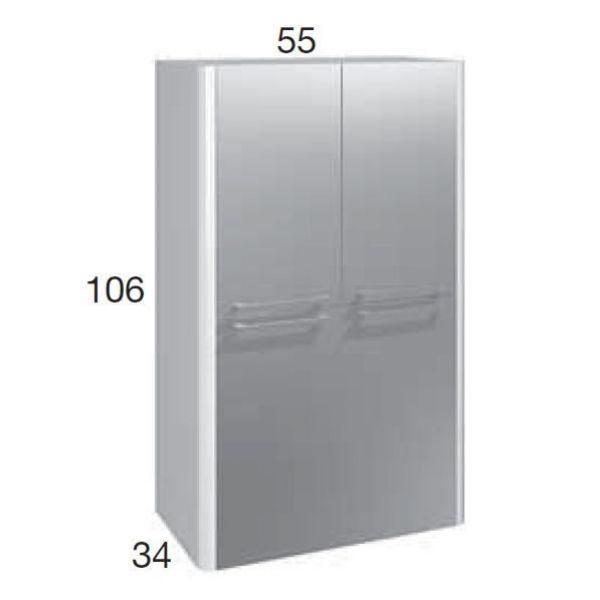 Шкаф для ванной комнаты Berloni Bagno DAY, SQUARED CB07 (отделка шпон)
