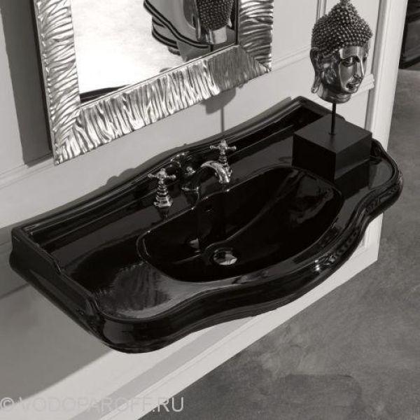 Раковина чёрная на 100 см Kerasan RETRO 1050
