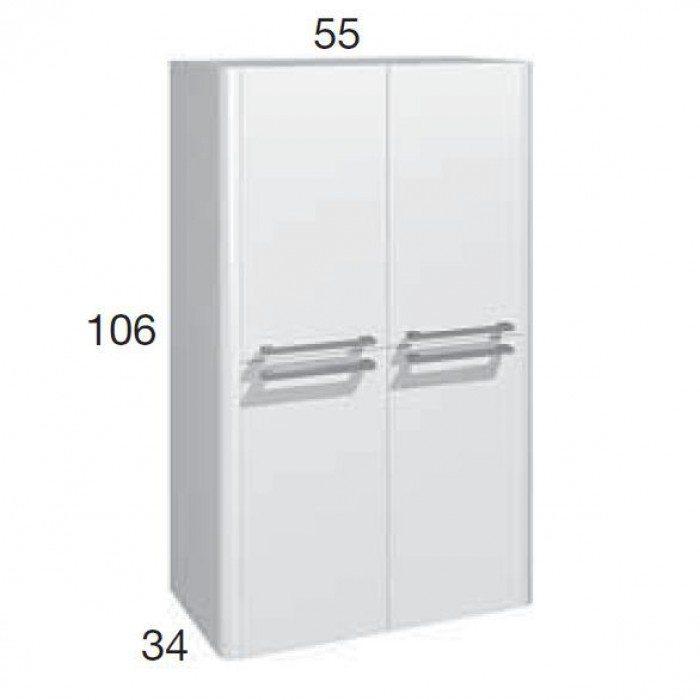 Шкаф для ванной комнаты Berloni Bagno DAY, SQUARED CB08 (отделка шпон)