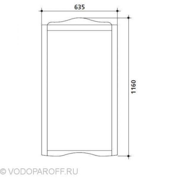Комплект мебели для ванной Kerasan RETRO 7351+7313+1046 (цвет орех)