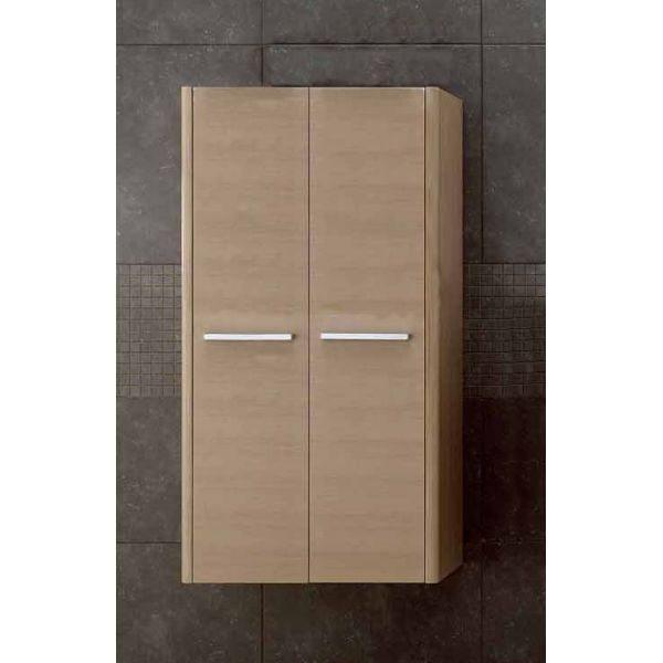 Шкаф для ванной комнаты Berloni Bagno DAY, SQUARED CB10 (отделка шпон, цвет светлый дуб 401)