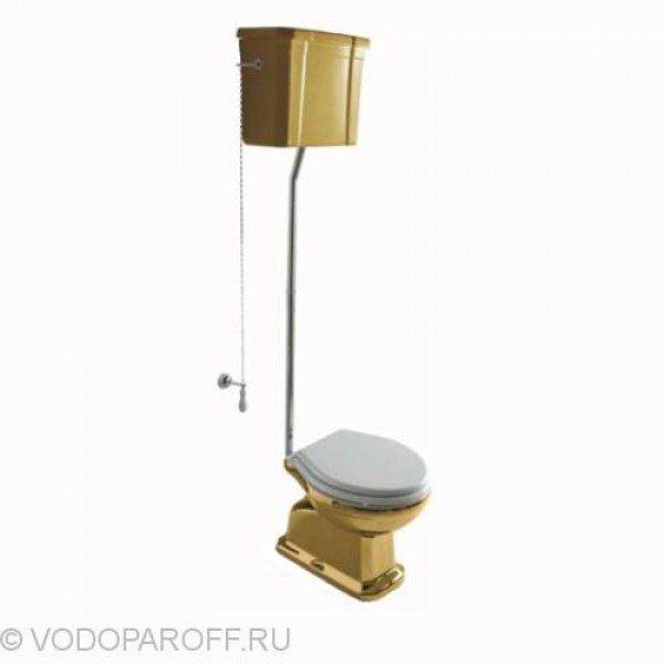 Унитаз galassia Ethos 8403OR подвесным керамическим бачком 8410OR на высокой трубе (цвет золото)