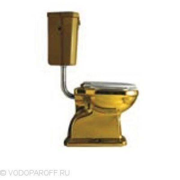 Унитаз galassia Ethos 8403OR подвесным керамическим бачком 8412OR на короткой трубе (цвет золото)