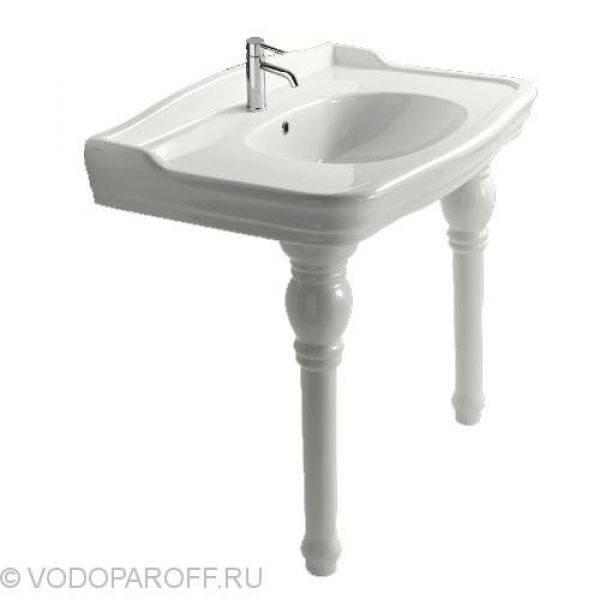 Раковина для ванной на 100 см galassia Ethos 8408M с керамическими ногами 8409