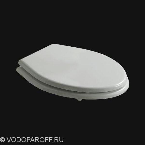 Сидение и крышка для унитаза galassia Ethos 8413 полиэстер (белый/хром)
