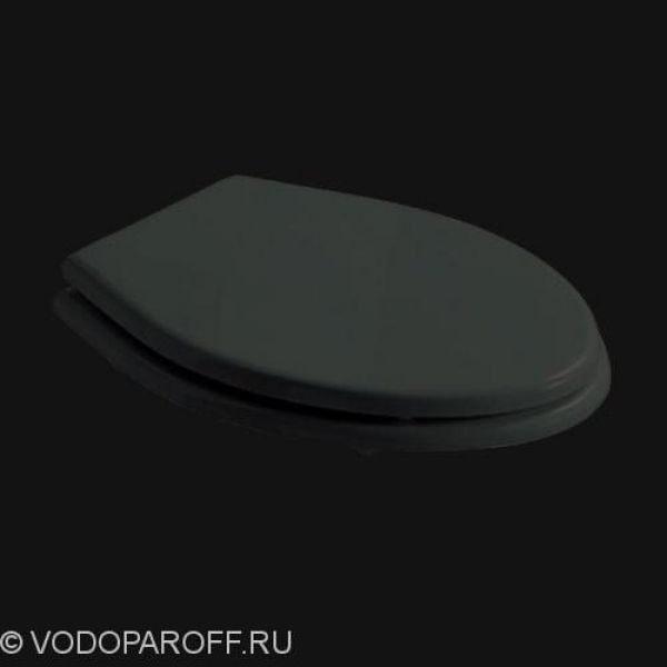 Сидение и крышка для унитаза galassia Ethos 8413NE полиэстер (чёрный/хром)