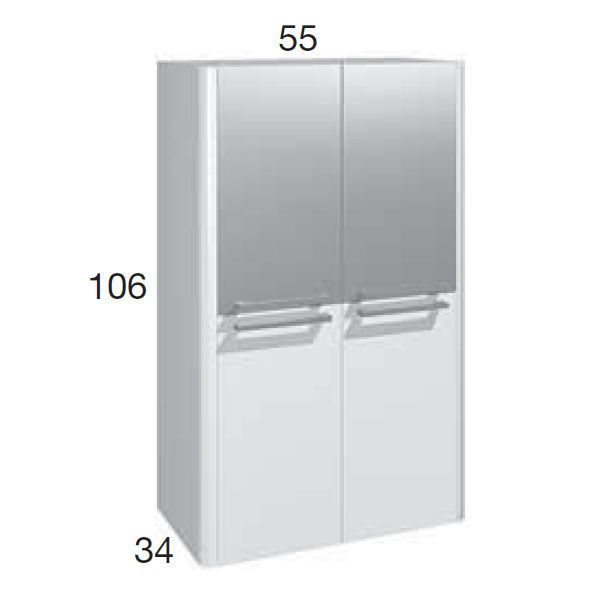 Шкаф для ванной комнаты Berloni Bagno DAY, SQUARED CB06 (отделка покраска лак)