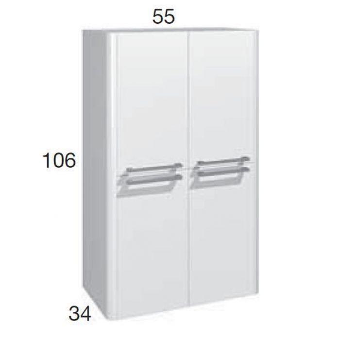 Шкаф для ванной комнаты Berloni Bagno DAY, SQUARED CB08 (отделка покраска лак)