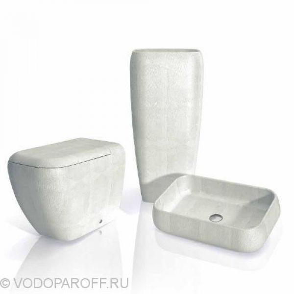 Раковина накладная для ванной на 60 см CIELO Jungle SHLAA60 (цвет iguana white)