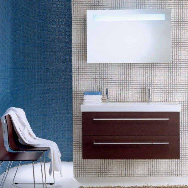 Комплект мебели для ванной комнаты Berloni Bagno SQUARED BS11 SQ403 (отделка шпон, цвет венге 405)