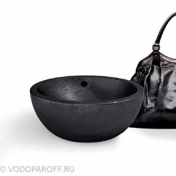 Раковина круглая накладная для ванной на 42 см CIELO Jungle SHBAX (цвет iguana noir)