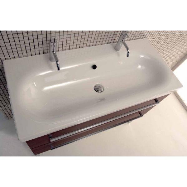 Тумба для ванной комнаты Berloni Bagno SQUARED BS11 (отделка шпон, цвет венге 405)
