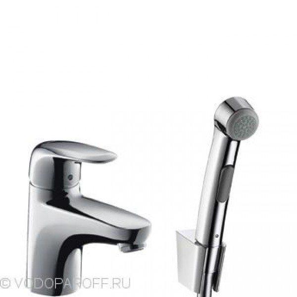 смеситель для раковины с гигиеническим душем hansgrohe Metris E 31170000
