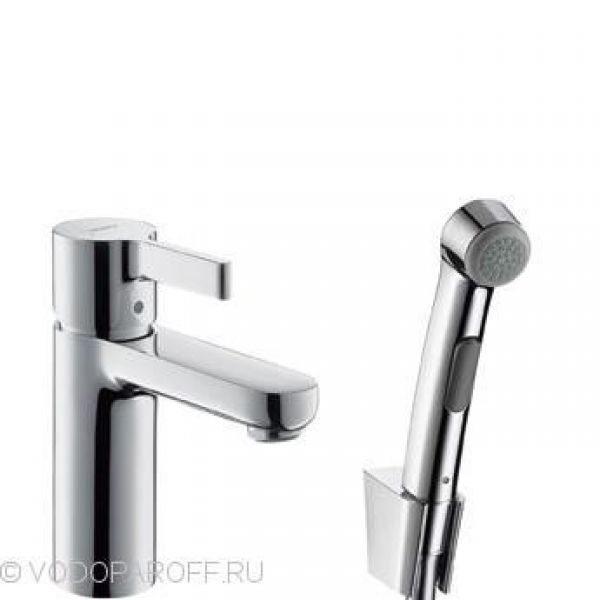 смеситель для раковины с гигиеническим душем  hansgrohe Metris s 31160000