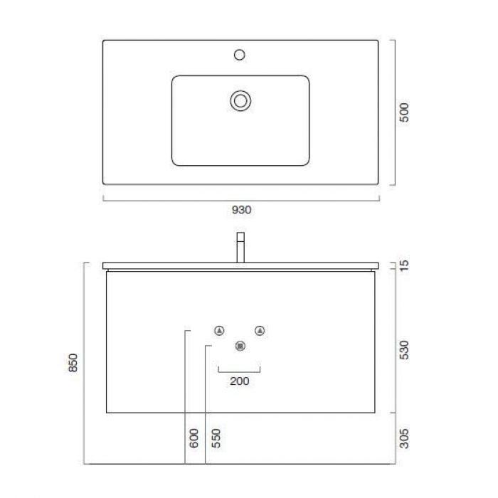 Тумба для ванной комнаты Berloni Bagno SQUARED BS10 TDF0930D
