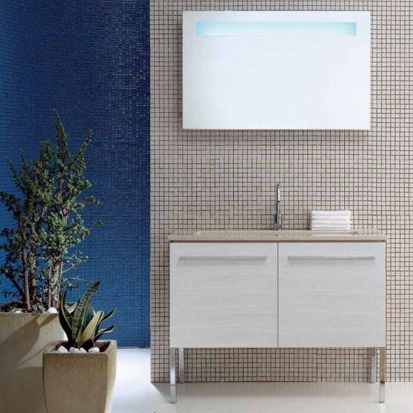 Комплект мебели для ванной комнаты Berloni Bagno SQUARED BS08 SQ03 TDF1080M (отделка шпон)