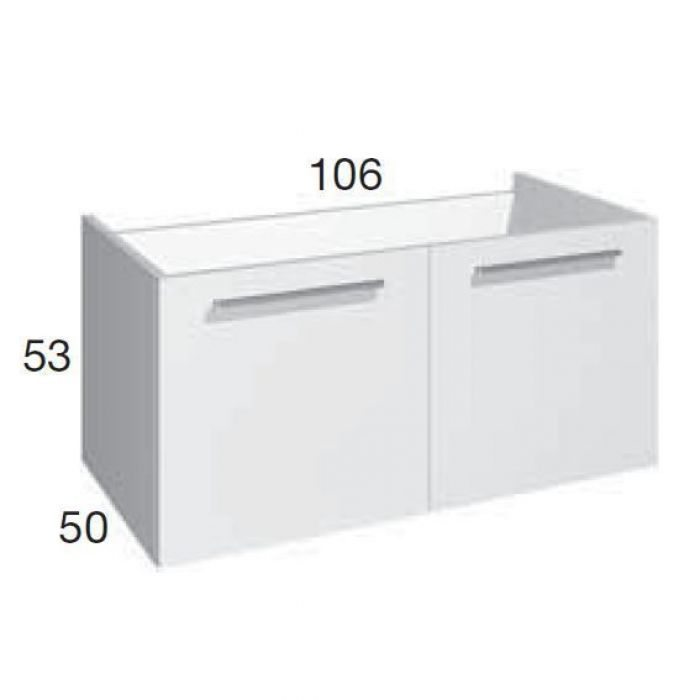 Тумба для ванной комнаты Berloni Bagno SQUARED BS08 (отделка шпон)