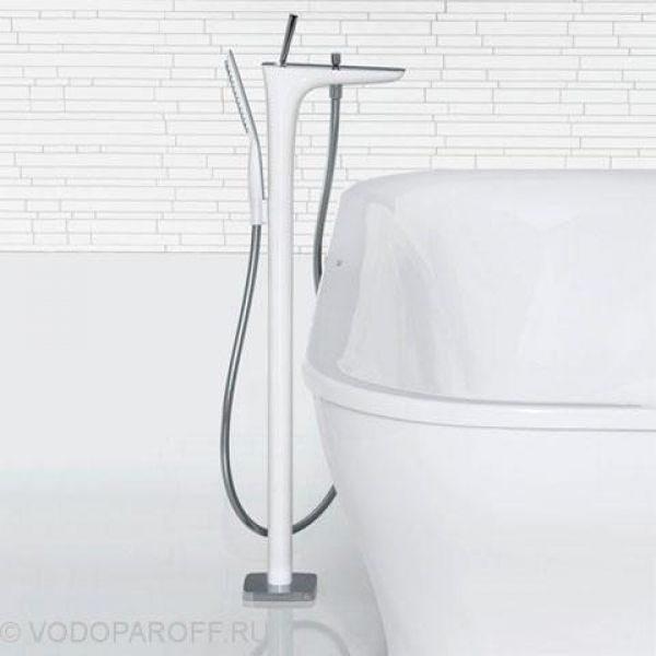 Смеситель для ванны hansgrohe PuraVida 15473 400 (белый/хром)