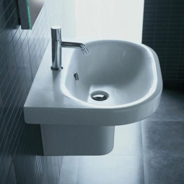 Раковина для ванной на 62 см Hatria DАYTIME Y0YT с полуколонной Y0YM