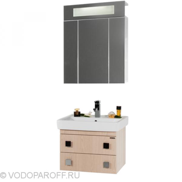 Комплект мебели для ванной комнаты КВАДРО 60 (цвет дуб)