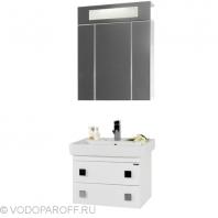 Комплект мебели для ванной комнаты КВАДРО 60 (цвет белый)