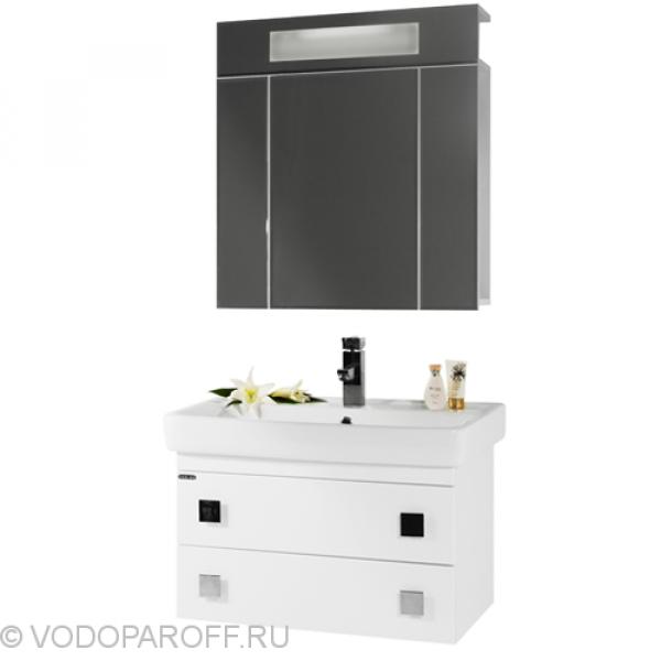Комплект мебели для ванной комнаты КВАДРО 70 (цвет белый)