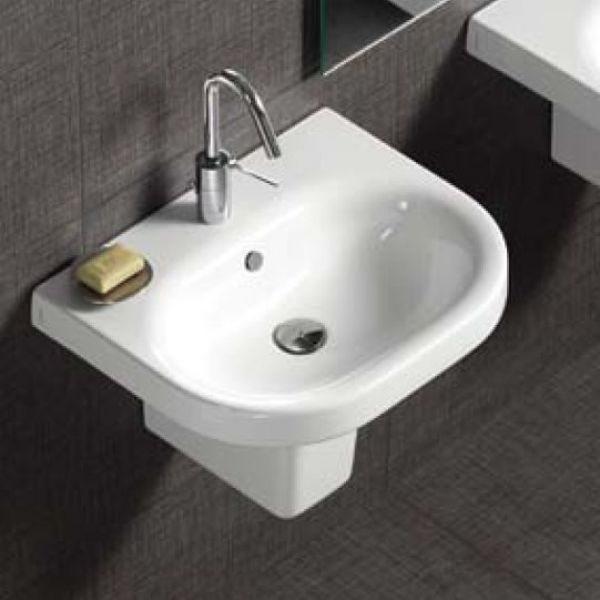 Раковина для ванной комнаты на 55 см Hatria DАYTIME YXBL с подвесной керамической полуколонной YXCQ