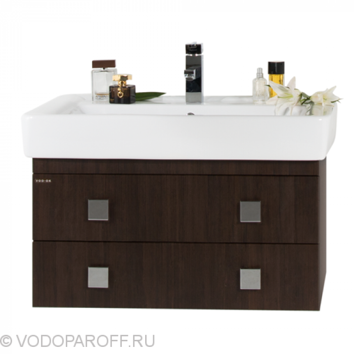 Тумба подвесная для ванной комнаты Водолей А+ КВАДРО 80 (цвет венге)