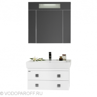 Комплект мебели для ванной комнаты КВАДРО 80 (цвет белый)