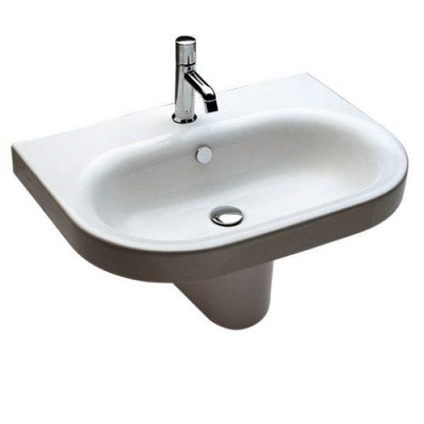 Раковина для ванной комнаты на 70 см Hatria DАYTIME Y0YV, с подвесной керамической полуколонной Y0YM