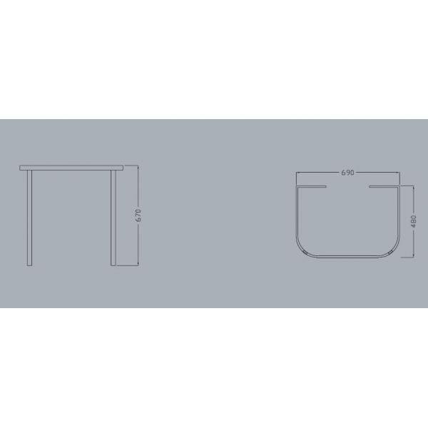 Раковина на 70 см HАTRIА DАYTIME YОMB с металлической хромированной консолью базой YОP8