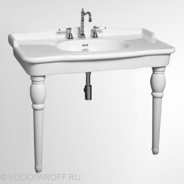 Раковина для ванной на 112 см cielo WINDSOR WINCON110B на керамических ногах WINPIEB