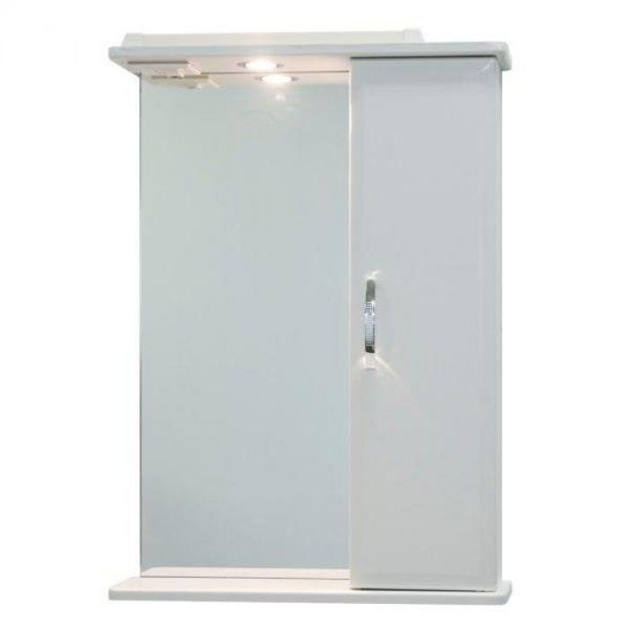 Зеркало со шкафом Колумбия 55 (цвет белый)