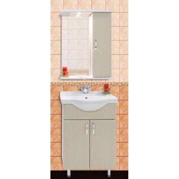 Комплект мебели для ванной комнаты Колумбия 55 (цвет дуб)
