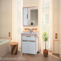 Комплект мебели для ванной комнаты Габи 60 (цвет дуб с белым)