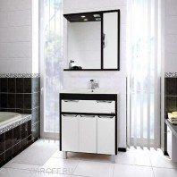 Комплект мебели для ванной комнаты Габи 75 (цвет венге с белым)