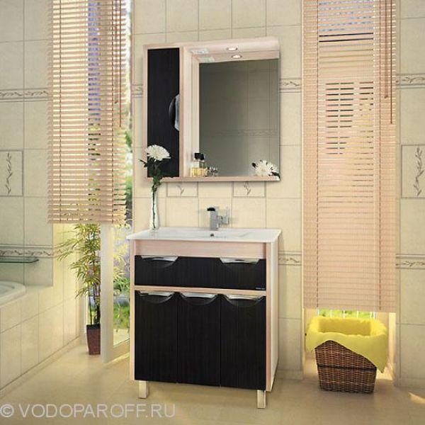 Комплект мебели для ванной комнаты Габи 75 (цвет дуб с венге)