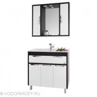 Комплект мебели для ванной комнаты Габи 90 (цвет венге с белым)