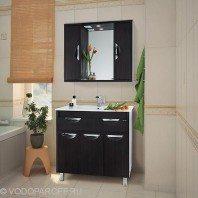 Комплект мебели для ванной комнаты Габи 90 (цвет венге)