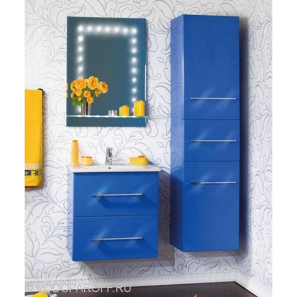 Комплект мебели для ванной комнаты Бриклаер СИЭТЛ 60 с пеналом (цвет синий)