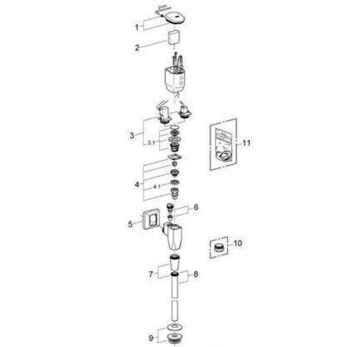 Смывное устройство Grohe 37713 000 для писсуаров (хром)